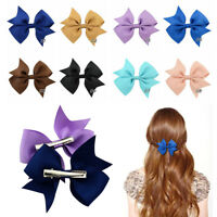 20Pcs Kids Baby Girl's Hair Bows Hairpin Alligator Grosgrain Ribbon Bow Clip