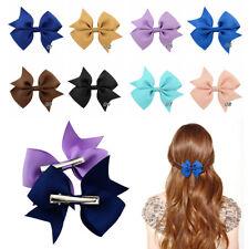 20Pcs Kids Baby Girl's Hair Bows Hairpin Alligator Grosgrain Ribbon Bow Clip