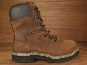 "Wolverine 8"" Marauder Steel Toe Waterproof Insulated Brown Boot Men's Size 12 EW"