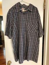 Mens Dickies Short Sleeve Work Shirt Gray Plaid w/ Pocket New XL NWT