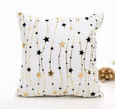 Christmas Cushion Cover | White | Stars | Christmas Home Decor | Christmas Gifts