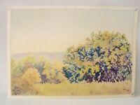⭐Israel Colored Drawings Landscape Pencil Vintage Art Signed By YOLA Original ⭐