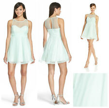 SEQUIN  HEARTS  EMBELLISHED SHEER  ILLUSION PROM PARTY DRESS    Sz 9  NEW  $ 94