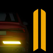 UK Orange Reflective Cycling Safety Warning Car Rear Bumper Decal Tape Sticker