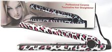 Mink Print Flat Iron/Hair Straightener Professional Ceramic Tourmaline Plates