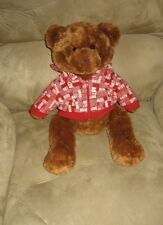 "New 12"" Aeropostale Holiday Bear Plush in Hoodie"