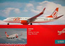 Herpa Wings 1:500  Boeing 737-800 GOL Airlines PR-GTE  526098