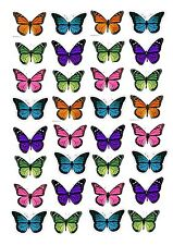 24 Edible cake toppers decorations colourful Monarch Butterflies Butterfly BD4