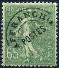 FRANCE SEMEUSE 65c OLIVE PREO N° 49 UTILISE