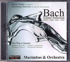 BACH Concerto for 4 Marimbas & Orchestra THE WAVE QUARTET Peter Sadlo CD Miramba