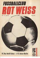 OL 82/83 FC Rot-Weiß Erfurt - 1. FC Union Berlin