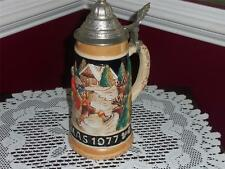 VNTG. BAVARIAN LIMITED BEER STEIN CHRISTMAS 1977 LUSTER WEST GERMANY SCHMID