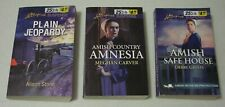 Lot of 3 Love Inspired Suspense Amish Paperbacks, Inspirational Romance