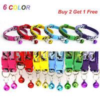6 Colors Adjustable Pet Collar Tie With Bell Necktie Collar For Cat Kitten Puppy