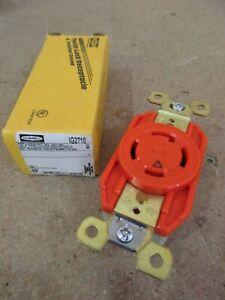 Hubbell IG2710 30A 3P 4W 125/250V Orange Twist-Lock Receptacle L14-30R (V549)