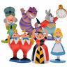 6 Alice in Wonderland Action Figure Rabbit Cheshire Hatter Dolls Cake Topper Toy