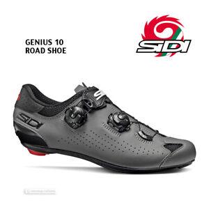 Sidi GENIUS 10 Road Cycling Shoes : BLACK/GREY - NEW in BOX!