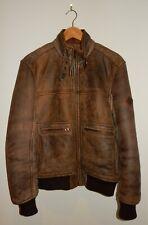 Timberland Vintage A2 Bomber Leather Sheepskin Shearling Aviator Jacket S