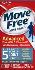 80 Schiff Move Free Joint Health Advanced Plus MSM & D3 ~ 12/2021 ~ Sealed Box