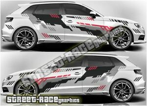 Audi A3 rally 006 racing graphics stickers decals vinyl