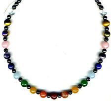 Gemstone Round Chain Costume Necklaces & Pendants