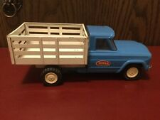 """Vintage Tonka Jeep Stake Bed Dump Truck In Great Working Condition. 1960's 9.5"""""""