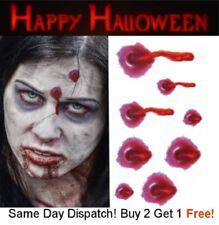 Halloween Zombie Scars Tattoos Fake Blood Scar Wound Bullet Hole Make-Up Kit UK