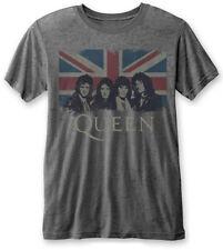 Queen 'Vintage Union Jack' (Gris) Camiseta para mujer - ¡NUEVO Y OFICIAL!