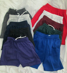 Toddler shorts jersey small med large xl Gray blue red gray black purple NEW