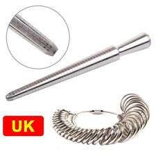 UK Ring Sizer Stick Metal Mandrel Finger Gauge Jewellery Kit Tool Engagement