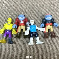 4PCS Fisher Price Imaginext Pirate Adventure Shark Pirate Deckhand Skeleton Toy
