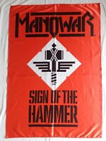 MANOWAR - Sign of the hammer FLAG Heavy thrash death METAL cloth poster