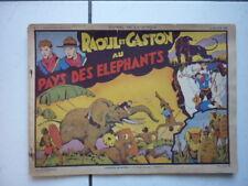 EDITION SAGE / L APPEL DE LA JUNGLE / NUM 1 / RAOUL ET GASTON / 1938