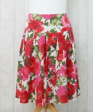Neues AngebotLaura Ashley Size 18 Red Floral Print Flared Summer Skirt 100% Cotton