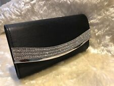 SATIN BLACK  Ladies Clutch/Hand Bag Wedding, Prom,Evening Party.Great Quality
