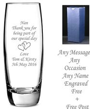Personalised engraved glass vase birthday gifts Nan mum auntie, godmother, gifts