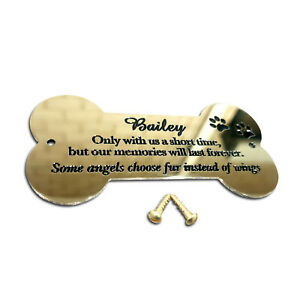 """Bone Shaped Brass Plaque/Name plate 4"""" x 2"""". Deep Engraving in Solid Brass"""