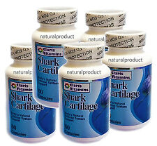 5 Shark Cartilage 750mg 300caps Defense System Cartilago de Tiburon Aches & Pain