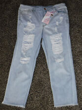 NWT Junior Girls Almost Famous Girlfriend Jeans Size 13