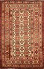 3x4 ft Vintage Balouch Traditional Oriental Area Rug Wool Hand-Knotted Carpet