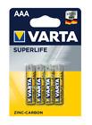 Varta Superlife Batterie AAA Micro R03 2003, 4er Pack