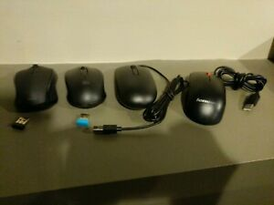 Dell Lenovo Staples Rii USB Optical Wireless Wired Mouse Lot of 4