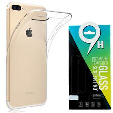 Panzerglas für iPhone 8 Plus Echt Glas 9H Schutzfolie Displayfolie + TPU HÜLLE
