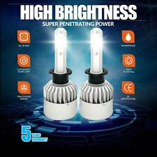 Pair CREE H1 LED Headlight Bulb Kit 1900W 285000LM High Beam Xenon 6000K White