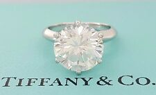 4.52 ct Tiffany & Co. Platinum Round Diamond Solitaire Engagement Ring Rtl $430k