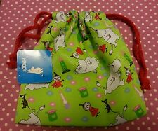 Moomin Character Little My small Cotton Drawstring Bags Green 1 piece A