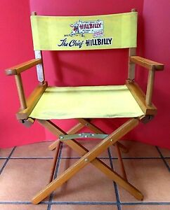 Rare Vintage Chief Hillbilly Bread Commander Directors Chair Novelty Advertising