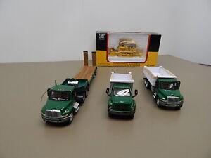 Boley Herpa Trucks Trailer and IH 175 Crawler Loader  HO Scale  1/87 Scale