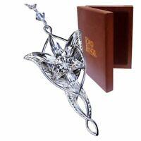 Lord of the Rings Arwen Evenstar Plata de Ley Collar Colgante - en Caja