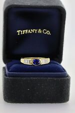 Tiffany & Co 18ct 1ct Sapphire Gold Diamond Vintage Ring